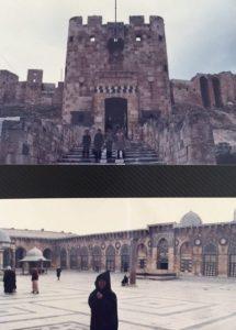 上:アレッポ城(世界遺産) 下:ウマイヤドモスク(世界遺産) いずれも2013年戦闘で破壊